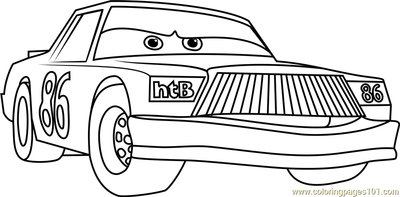 chick hicks from cars 3 coloring page free cars 3 coloring