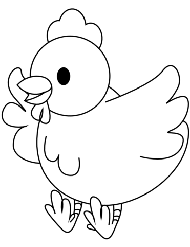 chicken flapping wings coloring page free printable