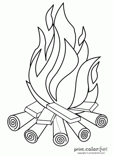children camp fire colouring pages camping coloring pages