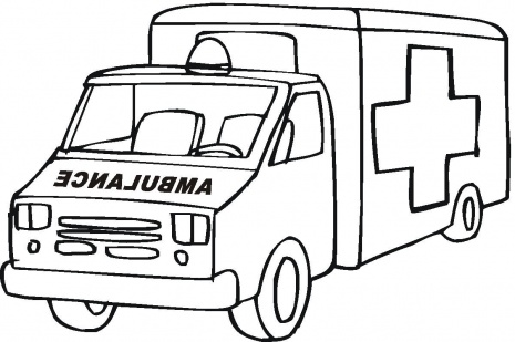 choosboox car ambulance coloring pages