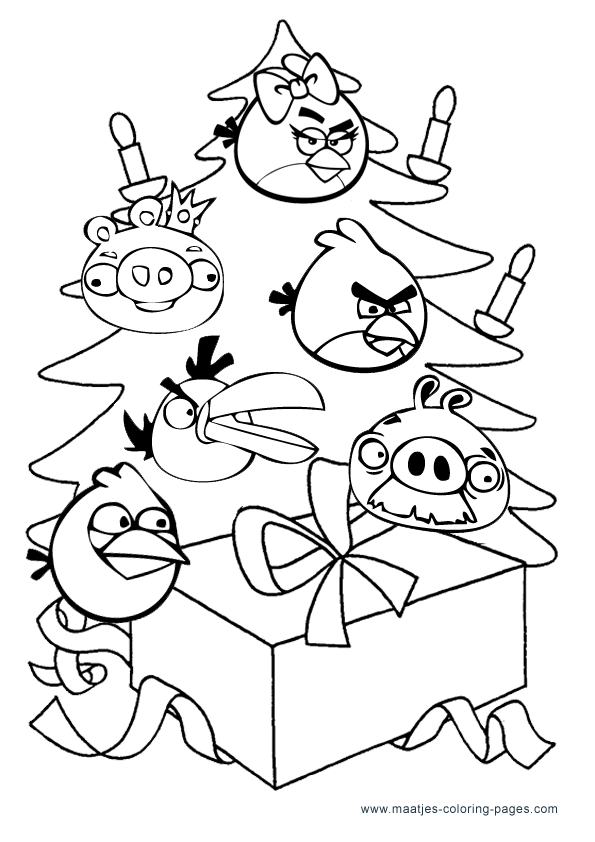 christmas angry birds coloring pages bird coloring pages