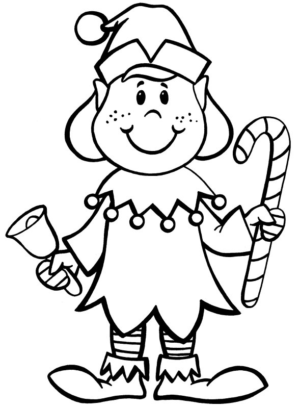christmas coloring pages of elves at getdrawings free