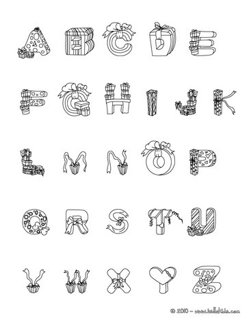 christmas letters of alphabet coloring pages coloring