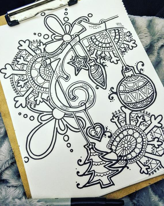 christmas ornament coloring page download