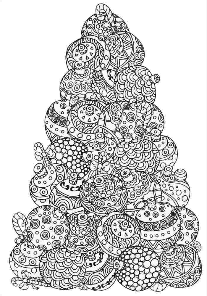 christmas tree coloring pages for adults tree coloring pages
