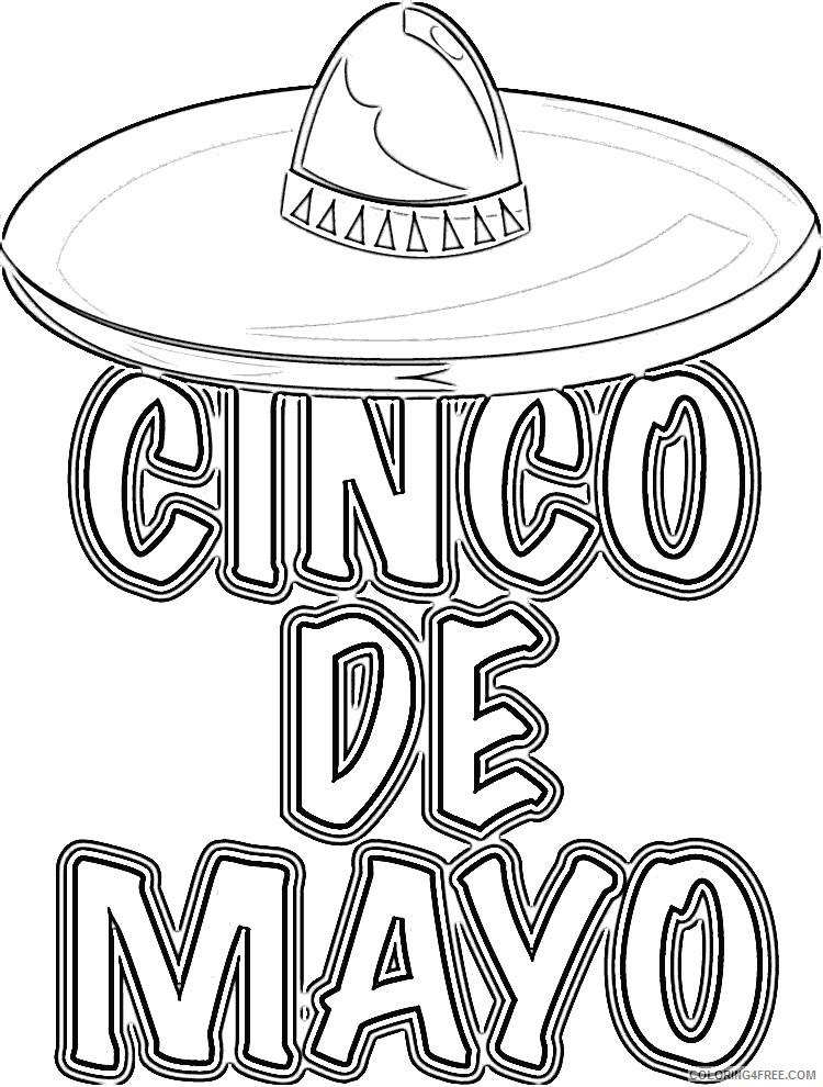 cinco de mayo coloring pages printable coloring4free