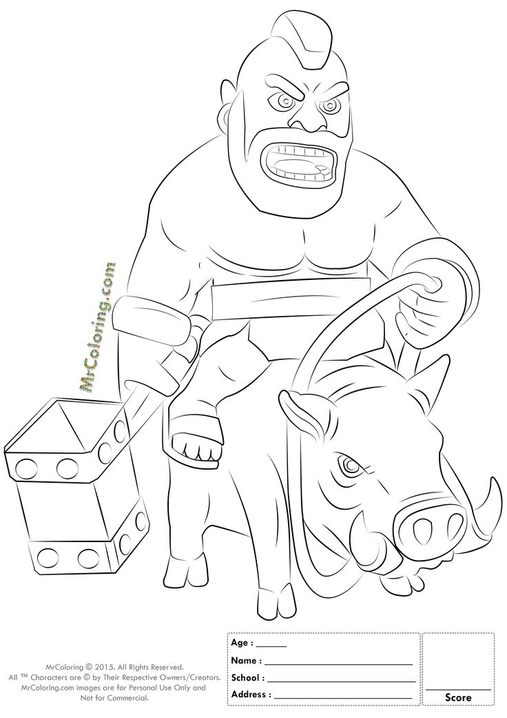 clash royale coloring pages at getdrawings free for