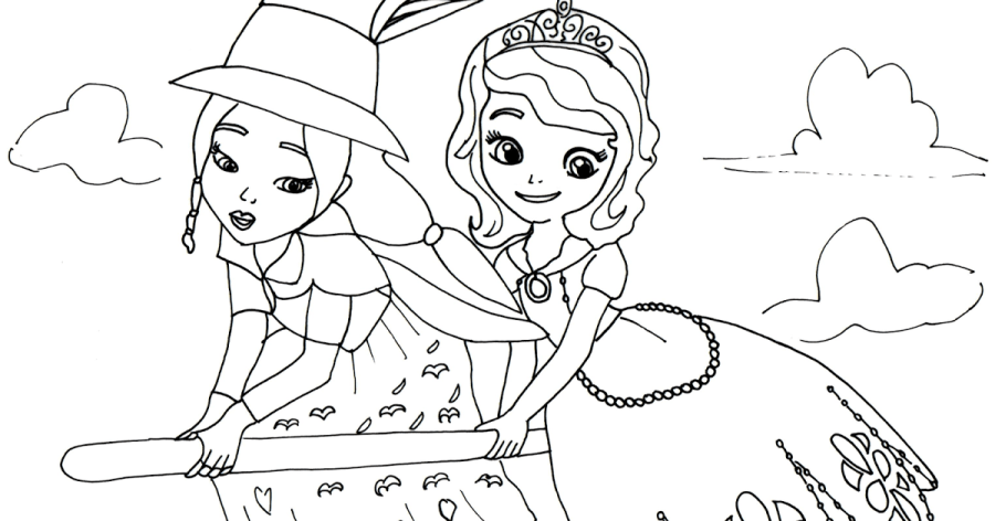 click here to print sofia the first coloring page with