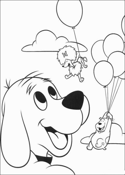clifford coloring page super coloring pages coloring book