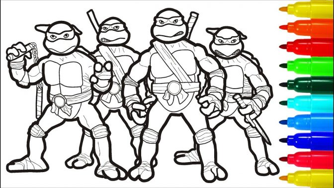 color pages ninja turtle facesoloring pages amazing free