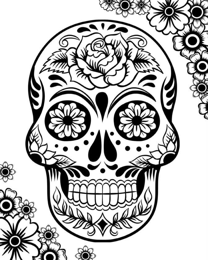 coloring book 36 incredible sugar skull coloring pages