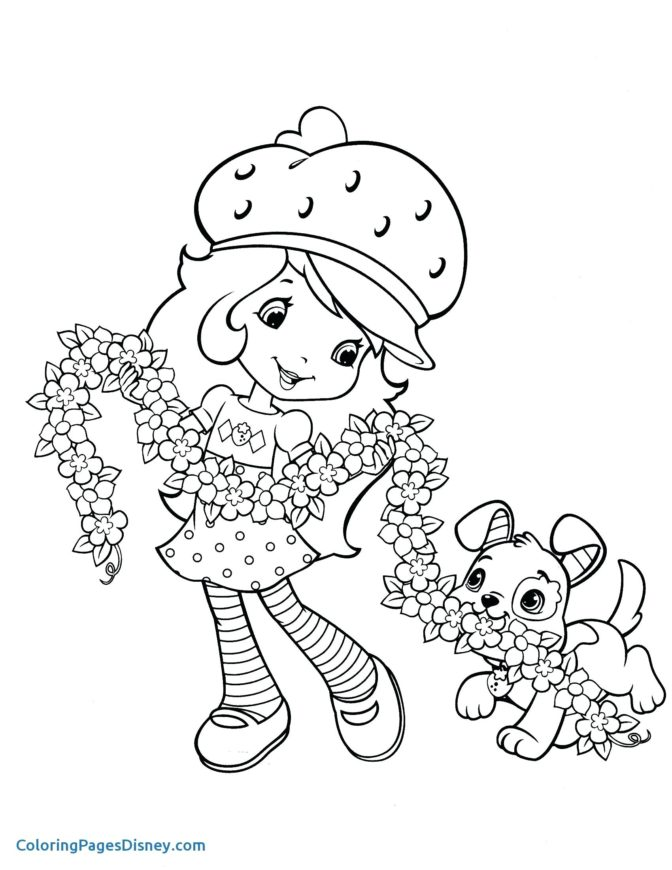 coloring book free strawberry shortcake coloring pages for