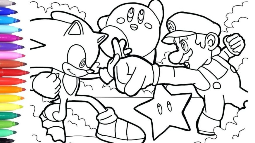 coloring books sonic coloring pages games pokemon book