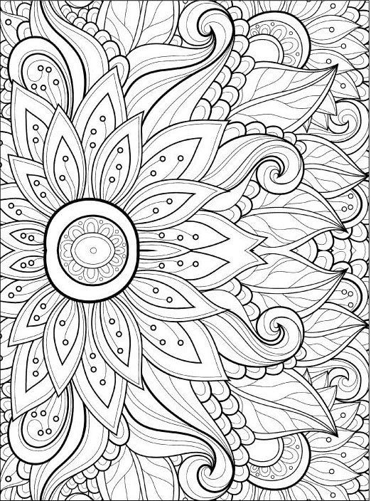 coloring page adults adult coloring pages flowers 2 2 flower