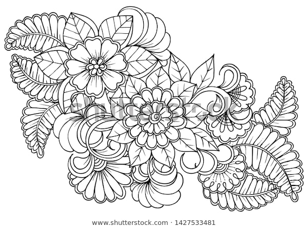 coloring page black white colouring book stock vektorgrafik