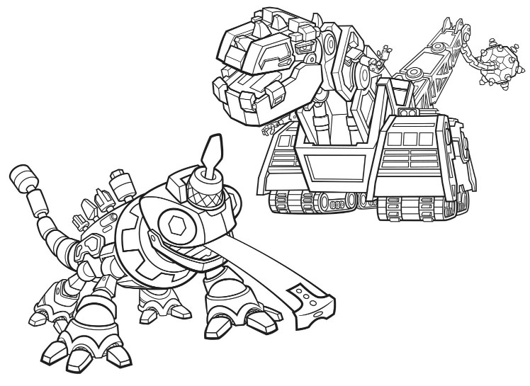 coloring page dinotrux d structs and revvit 3
