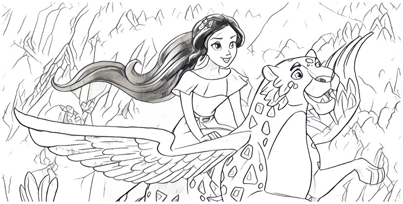 coloring page elena of avalor 8