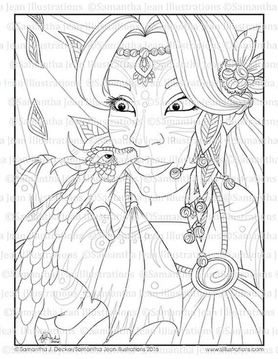 Fantasy Coloring Pages For Adults Collection Whitesbelfast