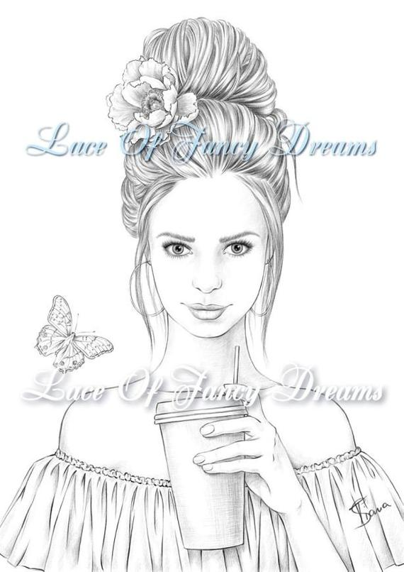 coloring page for adult beautiful woman coloring sheet to print summer coloring pages pdf nice girl drawing adult coloring printable sheet