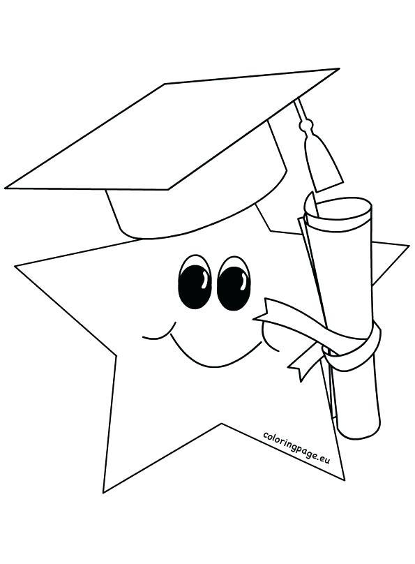 coloring page graduation hat arpitbatra