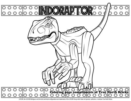 coloring page indoraptor coloring pages lego coloring