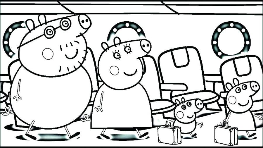 coloring page pig peppa pages birthday gtausaxyz