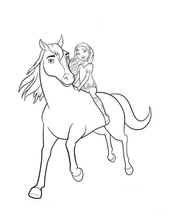 coloring page spirit riding free spirit lucky 2 ausmalen