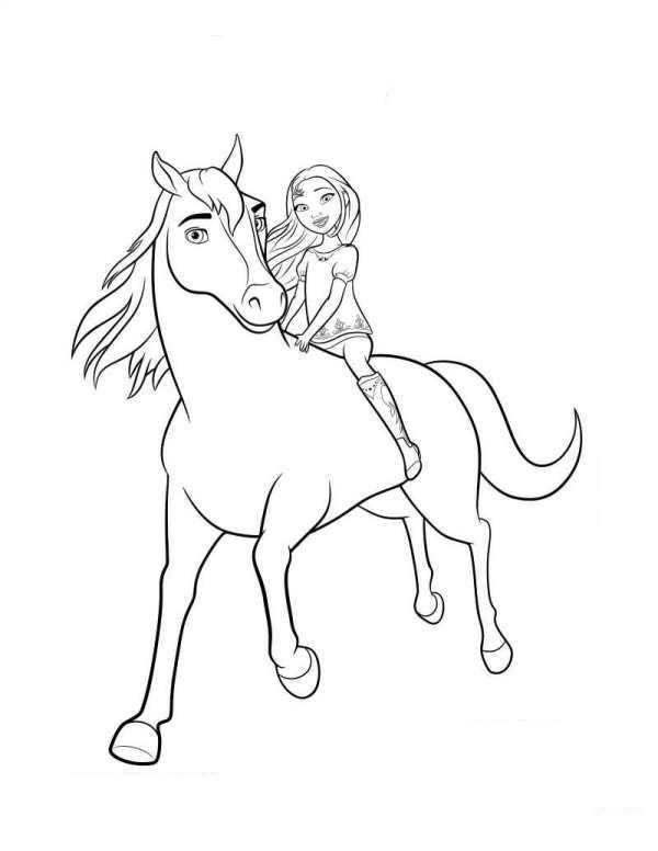 coloring page spirit riding free spirit lucky 2 ausmalen