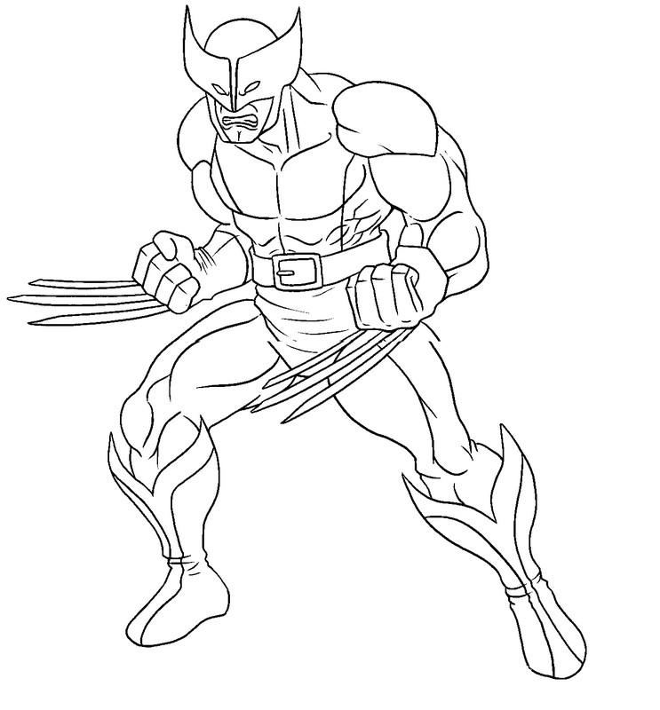 coloring page wolverine 2
