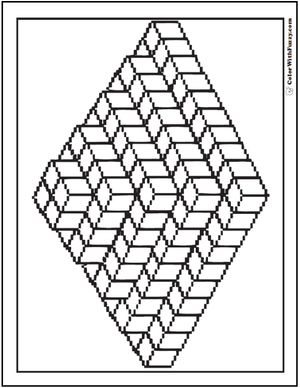 coloring pages 3d designs at getdrawings free for