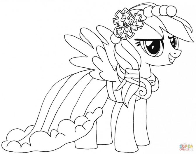 coloring pages alicorn coloring page rainbow dash