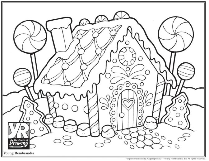 coloring pages astonishing gingerbread house coloring