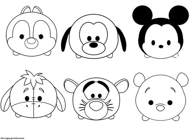 coloring pages disney tsum tsum