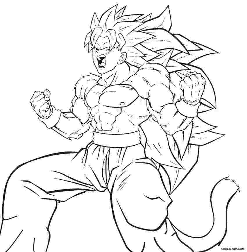 coloring pages dragon ball z goku free printable dragon ball