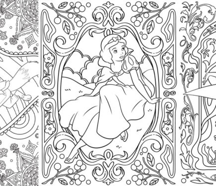 coloring pages for adults disney pusat hobi
