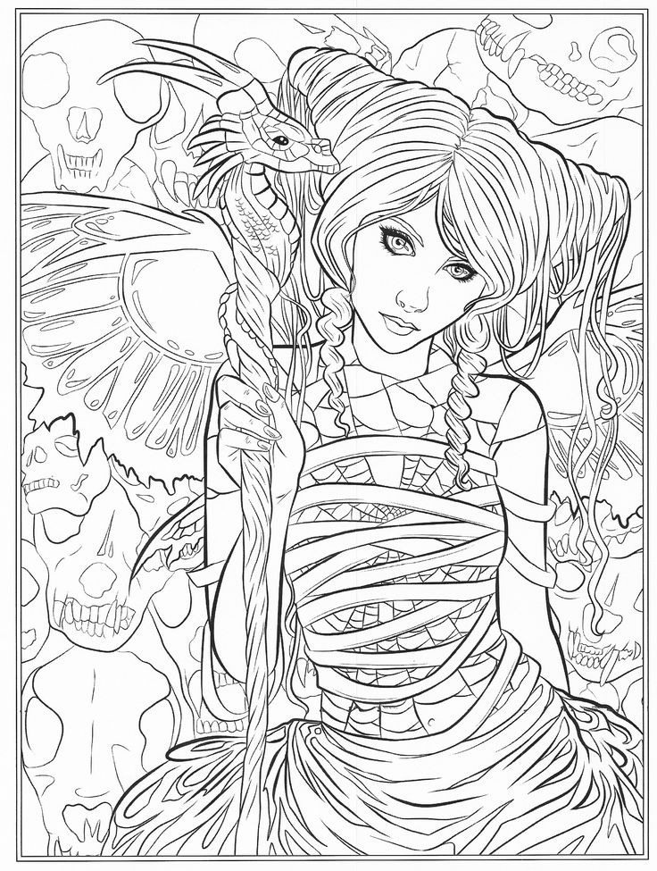 coloring pages for adults fantasy