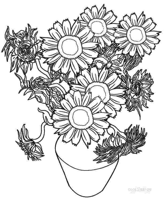 coloring pages for adults sunflowers sunflower coloring book