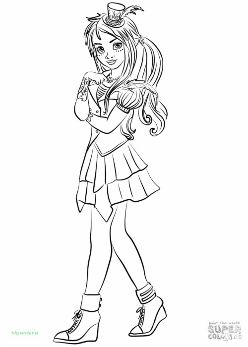coloring pages for girls disney descendants 2 evie