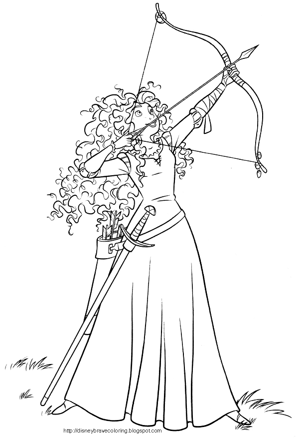 coloring pages for kids princess merida brave coloring pages