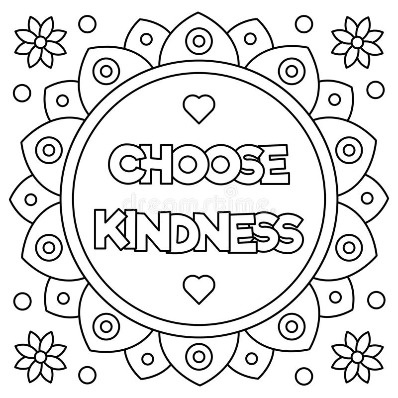coloring pages for kindness