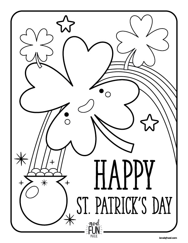coloring pages for st patricks day