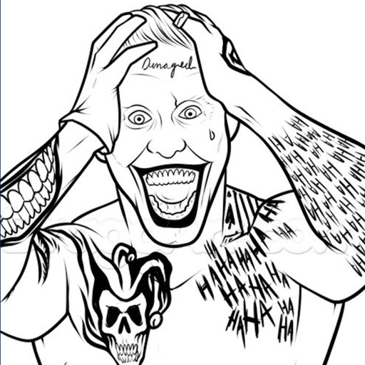 coloring pages for suicide squad edition jitesh s