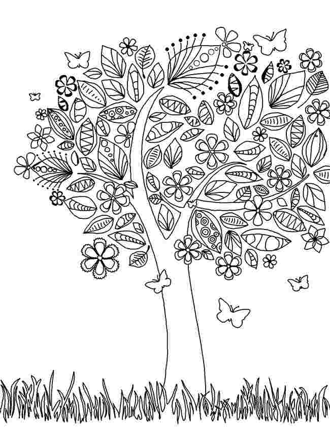 coloring pages for trees free printable tree coloring pages