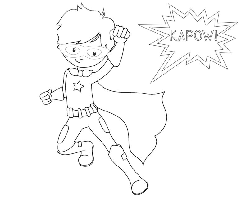 coloring pages free printable superhero coloring sheets