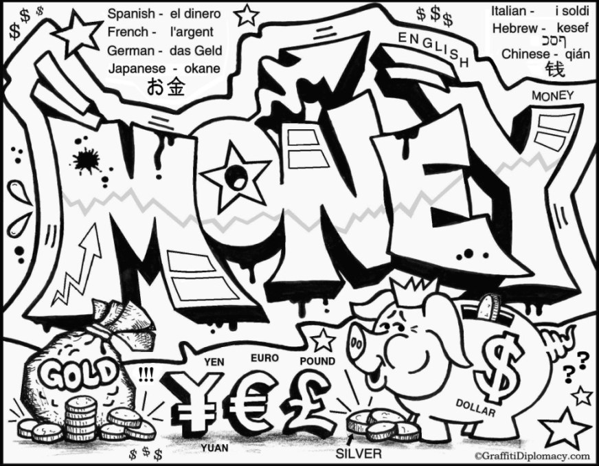 coloring pages graffiti
