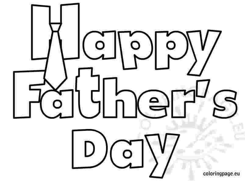 coloring pages happy fathers day happy father39s day