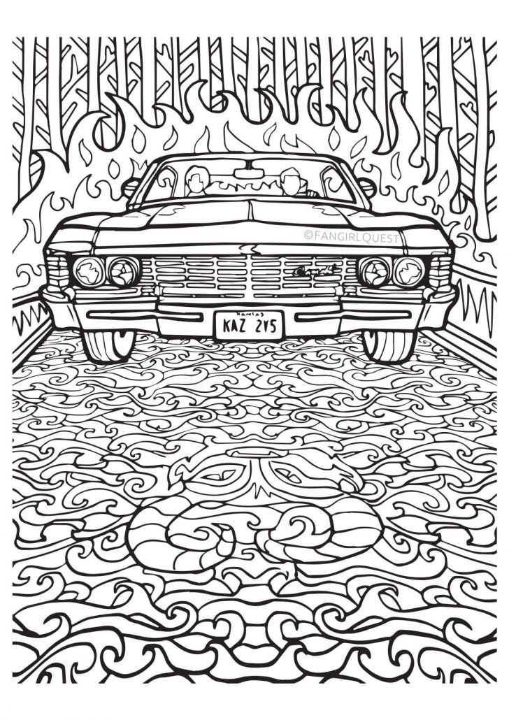 coloring pages ideas 96 fantastic supernatural coloring