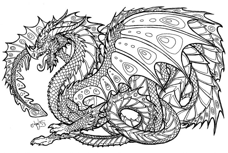 Free Printable Coloring Pages For Adults Advanced Dragons Pictures Whitesbelfast