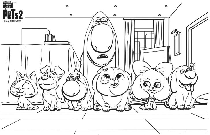 coloring pages ideas 97 staggering secret life of pets