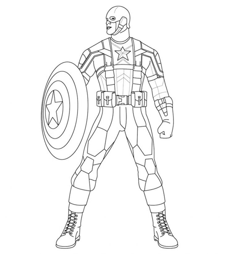 Captain America Coloring Pages Pictures - Whitesbelfast.com